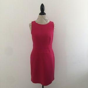 Ann Taylor Loft Bright Pink Sleeveless Dress 8